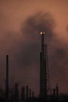 Curacao, Willemstad, Old oil refinery at dusk - RDF001193