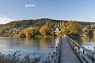 Switzerland, Schaffhausen, Lake Constance, Jetty to Island Werd - SH000862