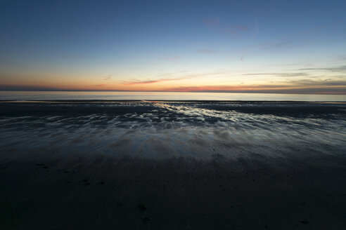 Holland, North Sea, coast, low tide, beach at sunset - MYF000051