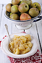 Homemade apple compote on wooden table - ODF000610