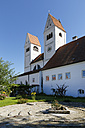 Germany, Bavaria, Upper Bavaria, Steingaden, view to parish church St. John - SIE004579