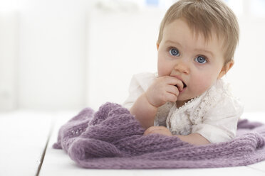 Baby girl with finger in mouth - FSF000032