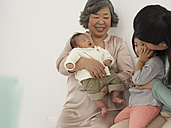 Asian senior woman with daughter and two granddaughters - FSF000073
