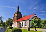 Sweden, Smaland, Kalmar laen, Vimmerby, Tuna, view to church - BT000003