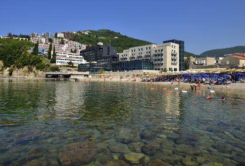 Montenegro, Hotels on the public beach of Budva - ES000678