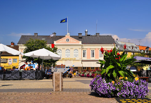 Sweden, Smaland, Vimmerby, Hotel at town square - BT000079