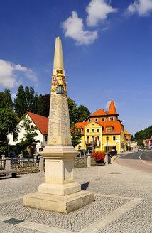 Germany, Saxony, Tharandt, Saxon post milestone - BT000217