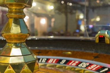 USA, Nevada, Las Vegas, Close up of roulette gambling wheel - ABA001043