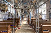Germany, Bavaria, Muehldorf, Gars am Inn, renovation of parish church of the Assumption of the Virgin Mary - AM001066