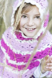 Germany, Vilsbiburg, Girl wearing poncho, portrait - STB000129