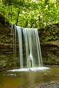 Germany, View of Murrhardt waterfall at Swabian-Franconian natural preserve - STSF000208