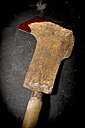 Rusty axe with bloodstain - AWDF000738
