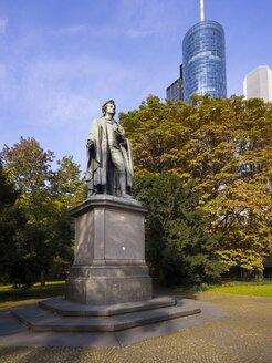 Germany, Hesse, Frankfurt am Main, Schiller Monument, in the background Helaba Landesbank - AMF001088