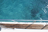 Italy, Sardinia, Planks of yacht deck - PDF000579