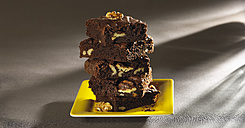 Stack of brownies with walnuts - SRSF000383