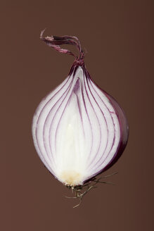 Half of red onion (Allium cepa), studio shot - WSF000041