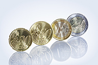 Euro coins in a row - STKF000542