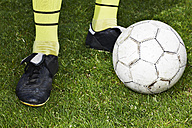 Legs of a soccer player, close-up - STKF000657