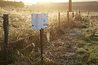 France, Burgundy, Mailbox in field near La Machine - DHL000182