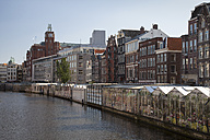 Netherlands, Amsterdam, Flower market at town canal - WI000150