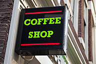 Netherlands, Amsterdam, Sign coffee shop - WI000161