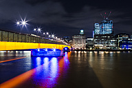 UK, London, view to illuminated London Bridge, The Pint and Leadenhall Building - DISF000167