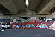 Germany, Constanze, graffiti under a bridge - AX000542