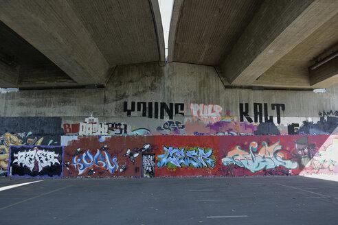 Germany, Constanze, graffiti under a bridge - AX000542