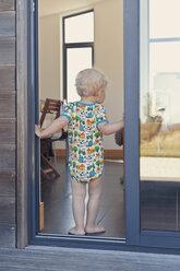 Little boy standing at the door - MFF000667