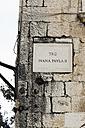 Croatia, Trogir, Trg Ivana Pavla II street sign - MS003059