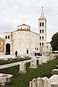 Croatia, Zadar, Round Church of Sv Donat and tower of Sv Anastasia cathedral - MS003062