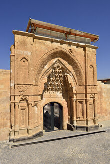Turkey, Agri province, Dogubeyazit, entrance portal of at Ishak Pasha Palace - ES000755