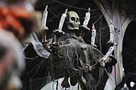 Germany, North Rhine-Westphalia, Cologne, skull at ghost train - JAT000449