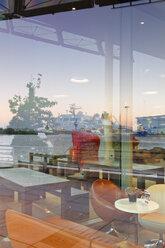 Germany, Hamburg, Hafencity, Lagnese cafe in Unilever house - MS003091