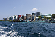 Maldives, View of Male, harbour and port entrance - AMF001266