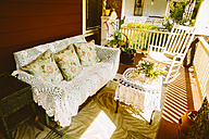 USA, Washington D.C, Porch of a French style home - MBE000870