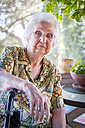 Portrait of aged woman - ABAF001078