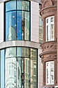 Germany, Baden-Wuerttemberg, Konstanz, Reflections in glass front of a department store - SH001003