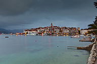 Croatia, Dalmatia, View of Korcula harbour - AM001277