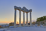 Turkey, Side, Temple of Apollo at sunset - SIE004702