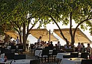 Turkey, Side, Restaurant at the sea front - SIE004706
