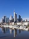 Germany, Hesse, Skyline of Frankfurt with River Main - AMF001369