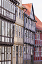 Germany, Saxony-Anhalt, Quedlinburg, Timber-framed houses - WDF002095