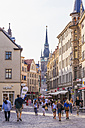 Germany, Saxony-Anhalt, Halle, Shops in the old town - WD002021