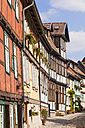 Germany, Saxony-Anhalt, Quedlinburg, Timber-framed houses - WD002050