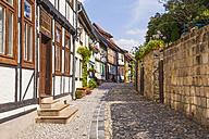 Germany, Saxony-Anhalt, Quedlinburg, Timber-framed houses - WD002053
