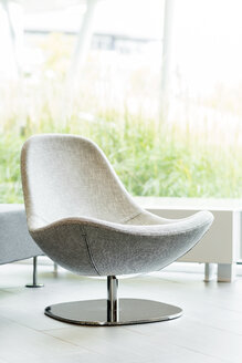 Poland, Warsaw, swivel chair at lounge of hotel - MLF000205
