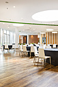 Poland, Warsaw, dining area of a hotel - MLF000226