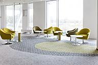 Poland, Warsaw, seating furniture at lounge of hotel - MLF000232