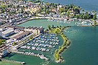 Switzerland, Thurgau, Aerial view of Romanshorn harbour - SH001039